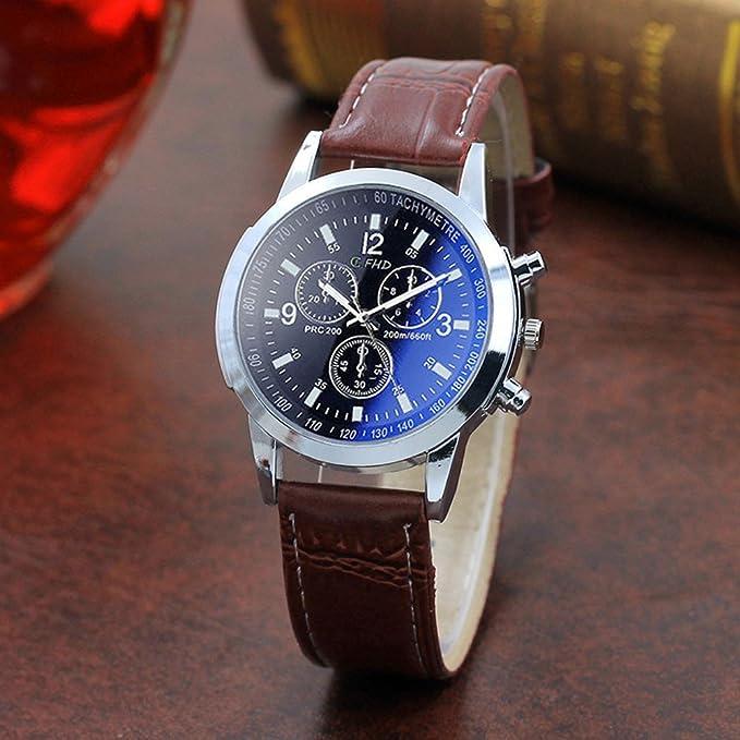 Reloj de Pulsera analógico Casual de Cuarzo para Hombre, Correa de Negocios: Amazon.es: Relojes