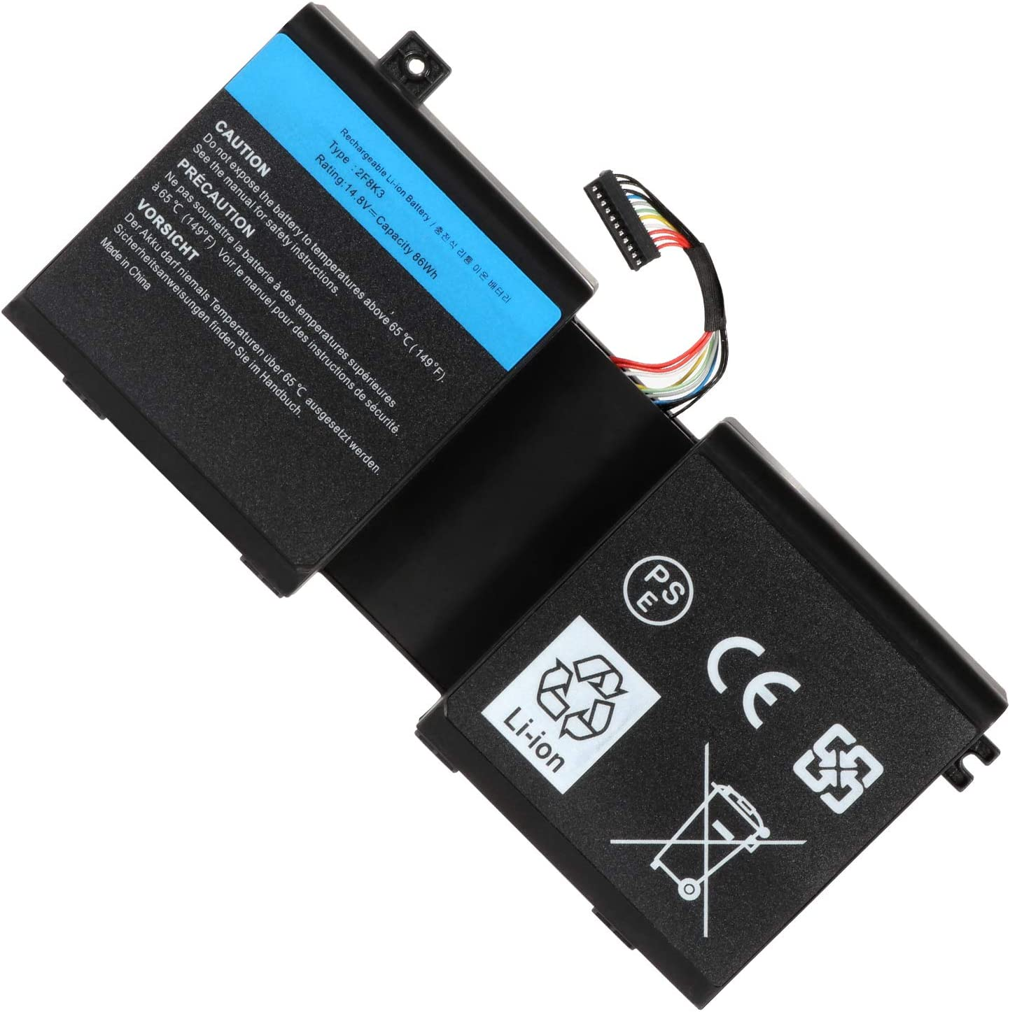 2F8K3 M18X Replacement Battery Compatible with Dell Alienware M17X R5 / M18X R3, 2F8K3 02F8K3 G33TT 0G33TT 0KJ2PX KJ2PX (86Wh 14.8V)