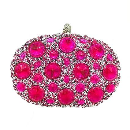 MYJ Bolso de señora señora Diamante Bolsa de Embrague Color Rhinestone Bolsa de Cena de Diamantes