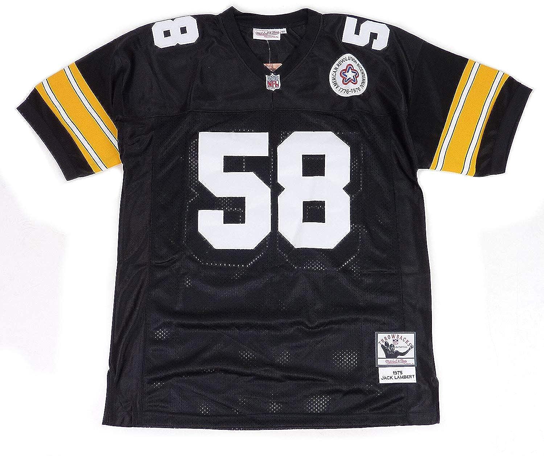 MITCHELL&NESS ミッチェル&ネス Pittsburgh Steelers ピッツバーグ スティーラーズ No.58 フットボール レプリカジャージ [並行輸入品]