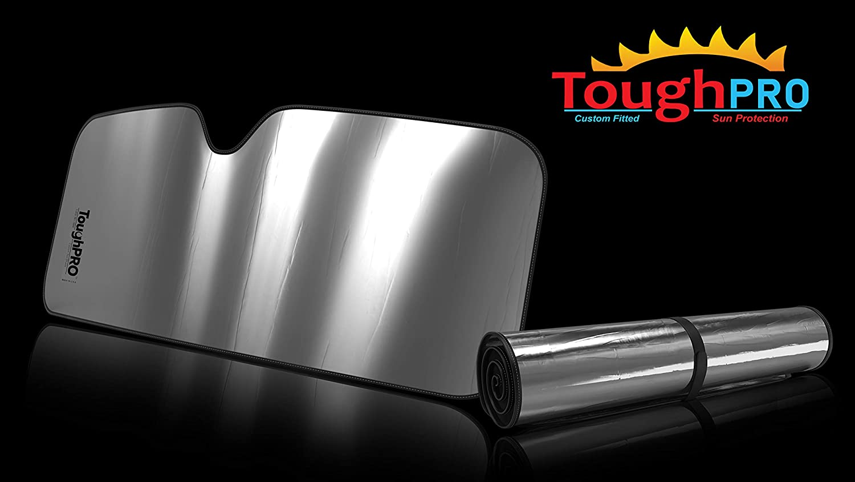 TOUGHPRO Windshield - Sun Shade - Accessories - Compatible with Alfa Romeo Giulia - 2017, 2018, 2019, 2020 - Heat Automation - Custom-Fit - UV Reflector - Block UV Rays
