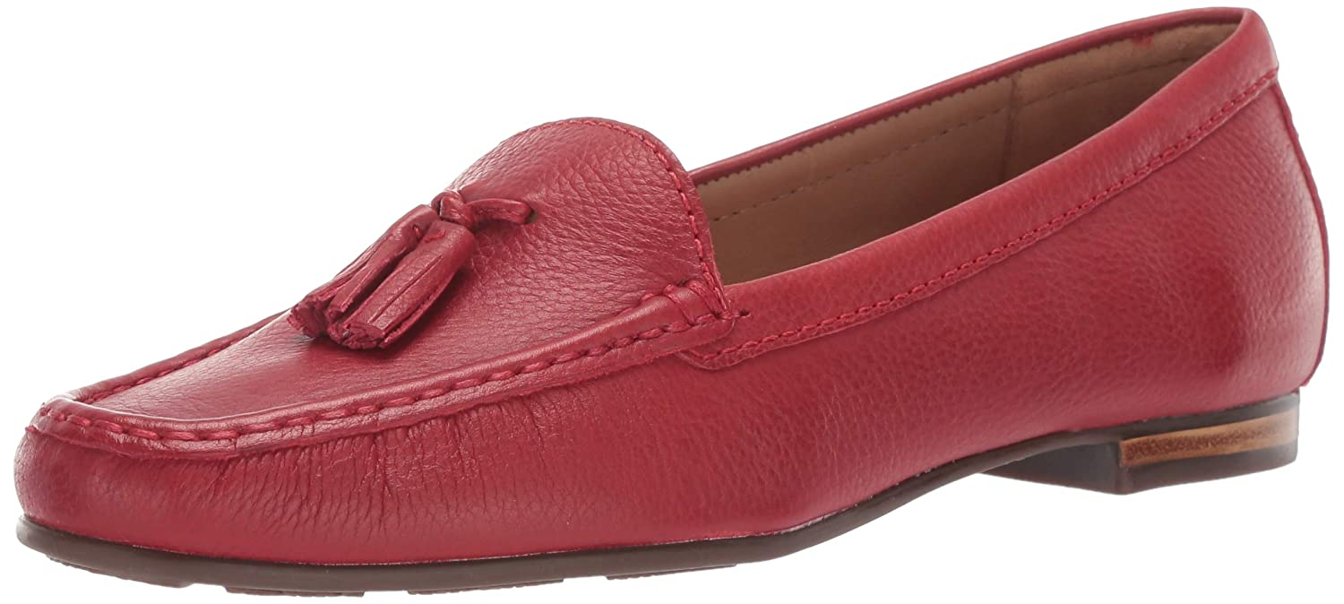 Red Grainy Driver Club USA Women's Genuine Leather Made in Brazil Palm Beach Loafers