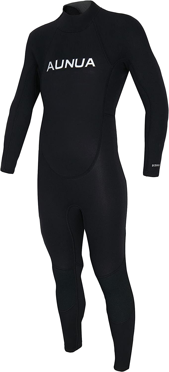 Aunua Youth 3//2mm Neoprene Wetsuits for Kids Full Wetsuit Swimming Suit Keep Warm