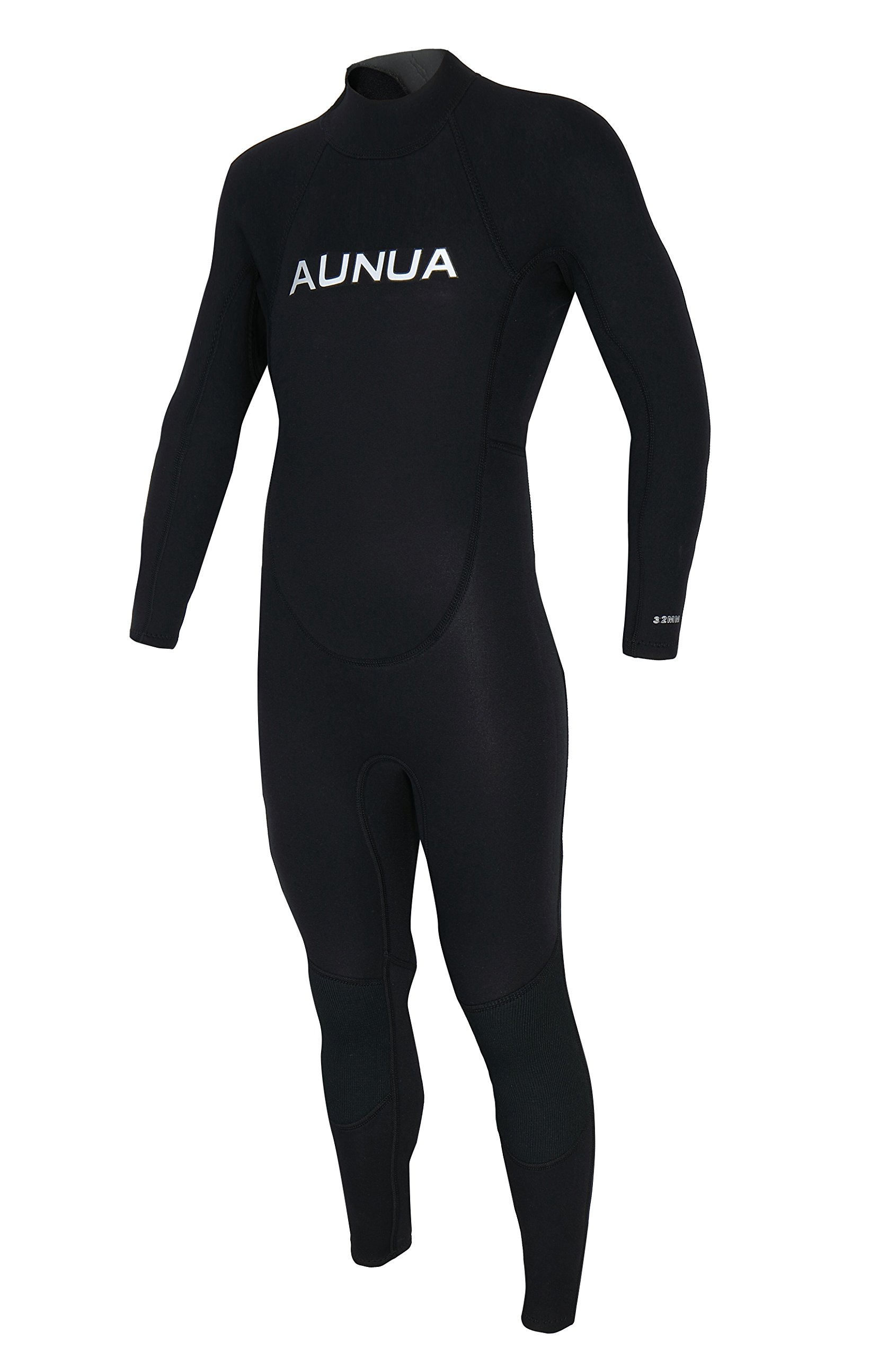 Aunua Youth 3/2mm Neoprene Wetsuits for Kids Full Wetsuit Swimming Suit Keep Warm(7031 Black 6)