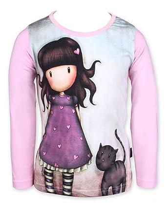 8a56edcfe Gorgjuss Santoro - Camiseta de Manga Larga - para niña  Amazon.es  Ropa y  accesorios