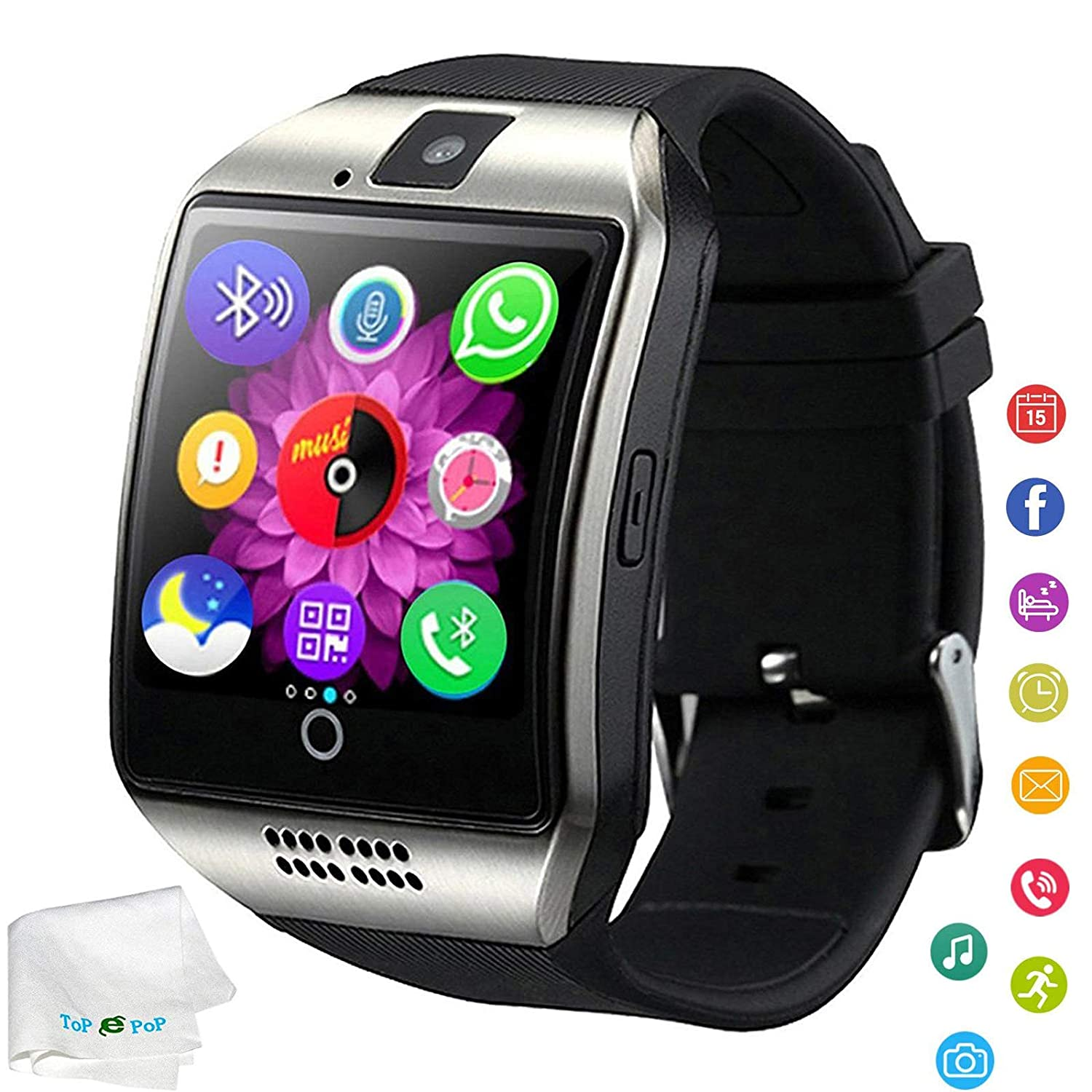 Bluetooth Smart Watch Unlocked Watch Pedometer Fitness Tracker Facebook Call Sync Reminder Sports Smartwatch Compatible with Android Samsung Galaxy S9 ...