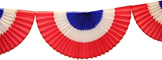 product image for 10 Foot Tissue Bunting Garland, Red White Blue