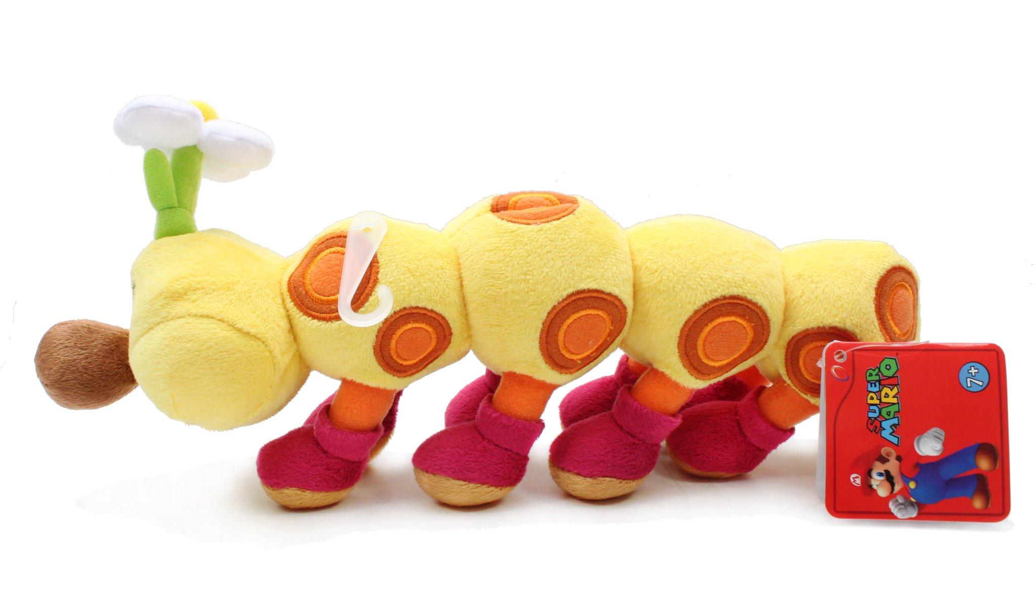 Little Buddy Official Super Mario Plush 11'' Wiggler/HanaChan by Little Buddy