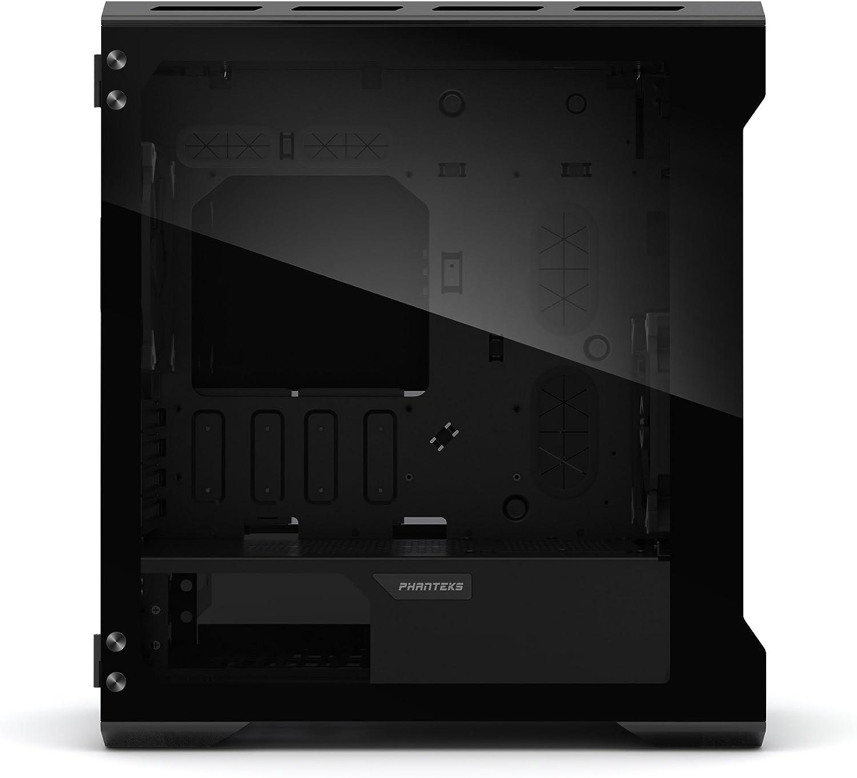 Phanteks PH-ES314ETG/_BK EVOLV mATX Tempered Glass Edition Aluminum Exterior RGB LED Illumination Micro Tower Case Satin Black