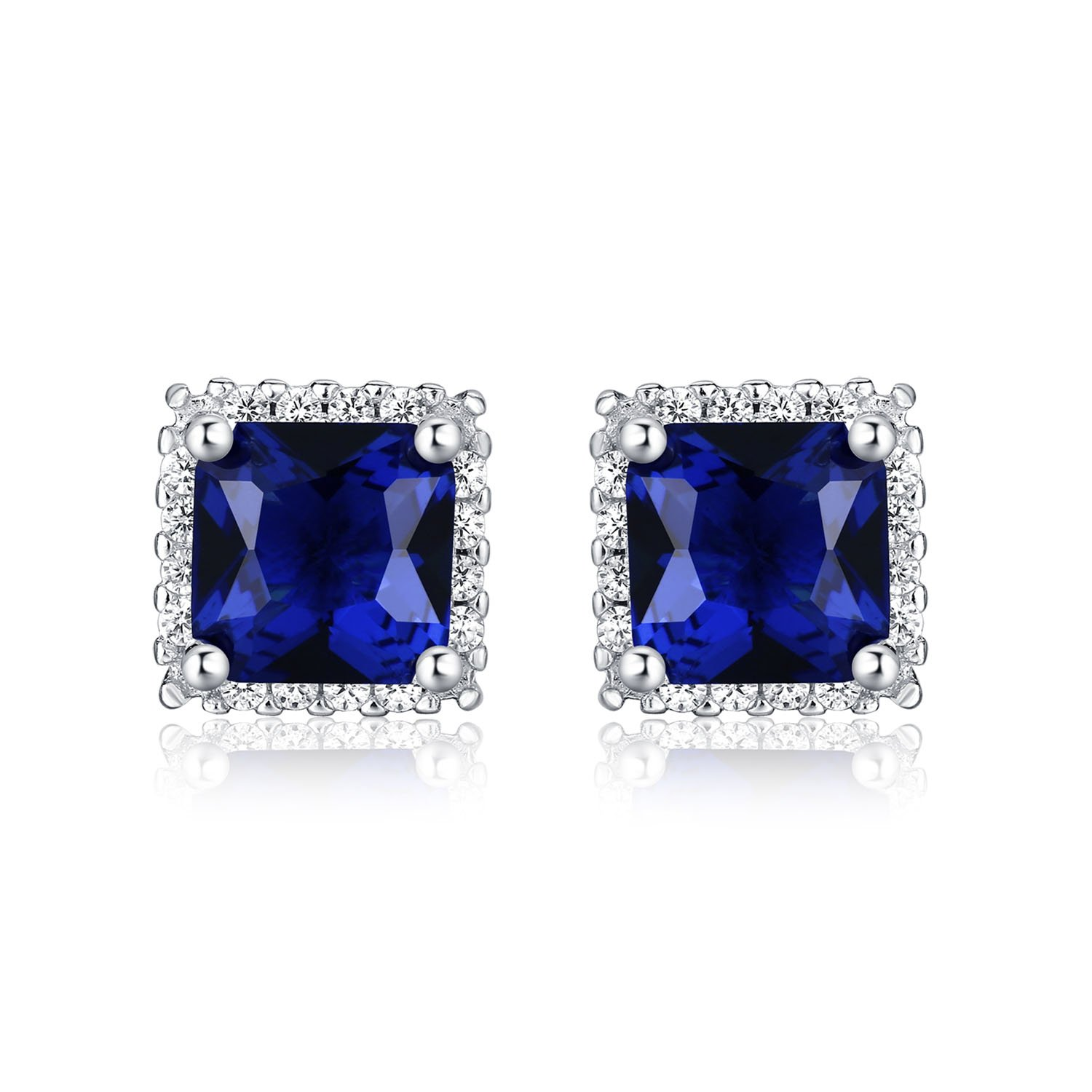 Diamond Treats 925 STERLING SILVER Earrings with Simulated Sparkling