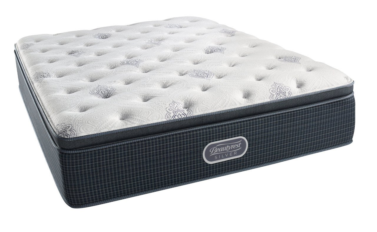 Beautyrest RechargeSimmons Plush Pillow Top King Mattress Pocketed Coil Gel Memory Foam