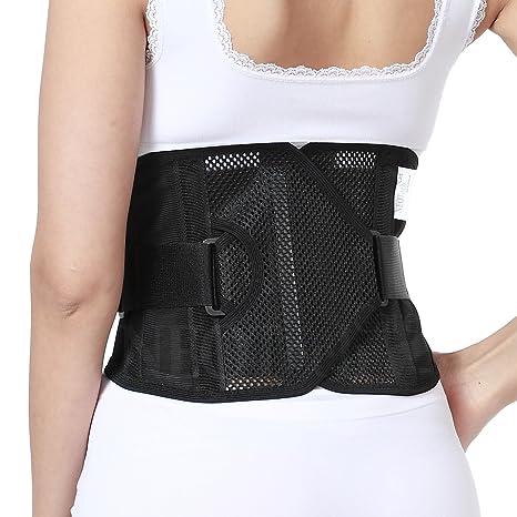 photos officielles 1e7d7 c5ae7 Ceinture lombaire ULTRA LÉGÈRE de marque Neotech Care - Soutien bas du dos  posture pour femme (Beige, Taille L)