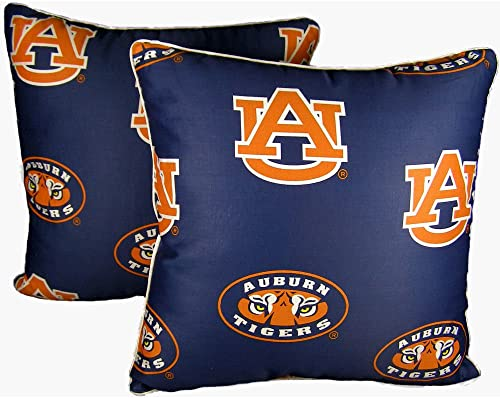 College Covers Auburn Tigers 16 x 16 Decorative Pillow – Includes 2 Decorative Pillows