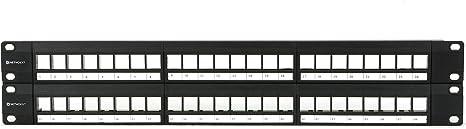 2U 48 Port Networx CAT5e High-Density Feed Through Patch Panel