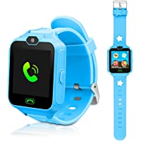 DUIWOIM Kids Smart Watch, Phone Watches for Girls Boys, Digital Wrist Watch, Smart Watch for 3-14 Years Old, Touch Screen Camera Anti-Lost SOS Button Smartwatch Great Gift for Children ( Blue)