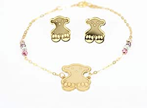 Pure Gold 18k Banda Earring with Bracelet