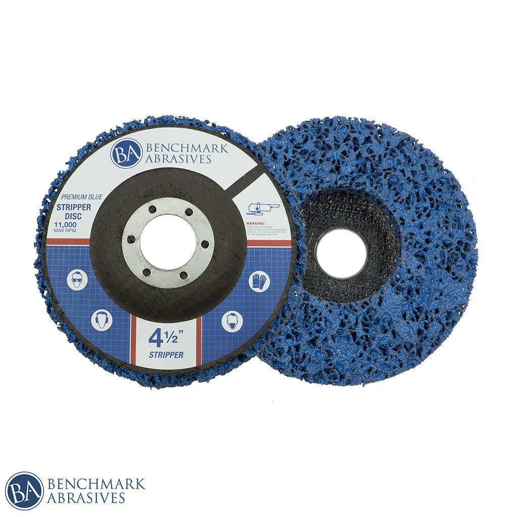 5 Pack - 4.5-Inch x 7/8-Inch Benchmark Abrasives Easy Strip Discs Clean & Remove Paint, Rust and Oxidation (Long Life) by Benchmark Abrasives