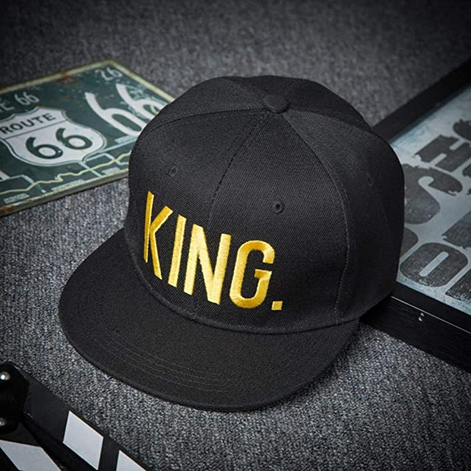 Sanjiayi 2019 Moda Hip Hop Gorras King Queen Letra Bordado Amantes ...