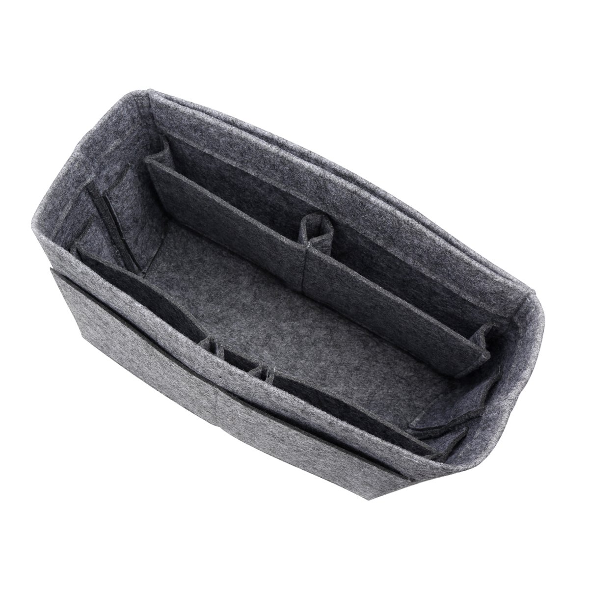 Actater Large Felt Purse Organizer Insert, Multi-Pocket Handbag Shaper, fits Tote Bag like Speedy or Neverfull (Grey)