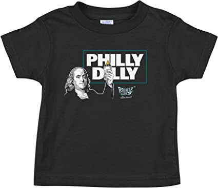 Philly Dilly Black Onesie /& Toddler Tee Rookie Wear by Smack Apparel Philadelphia Football Fans NB-4T