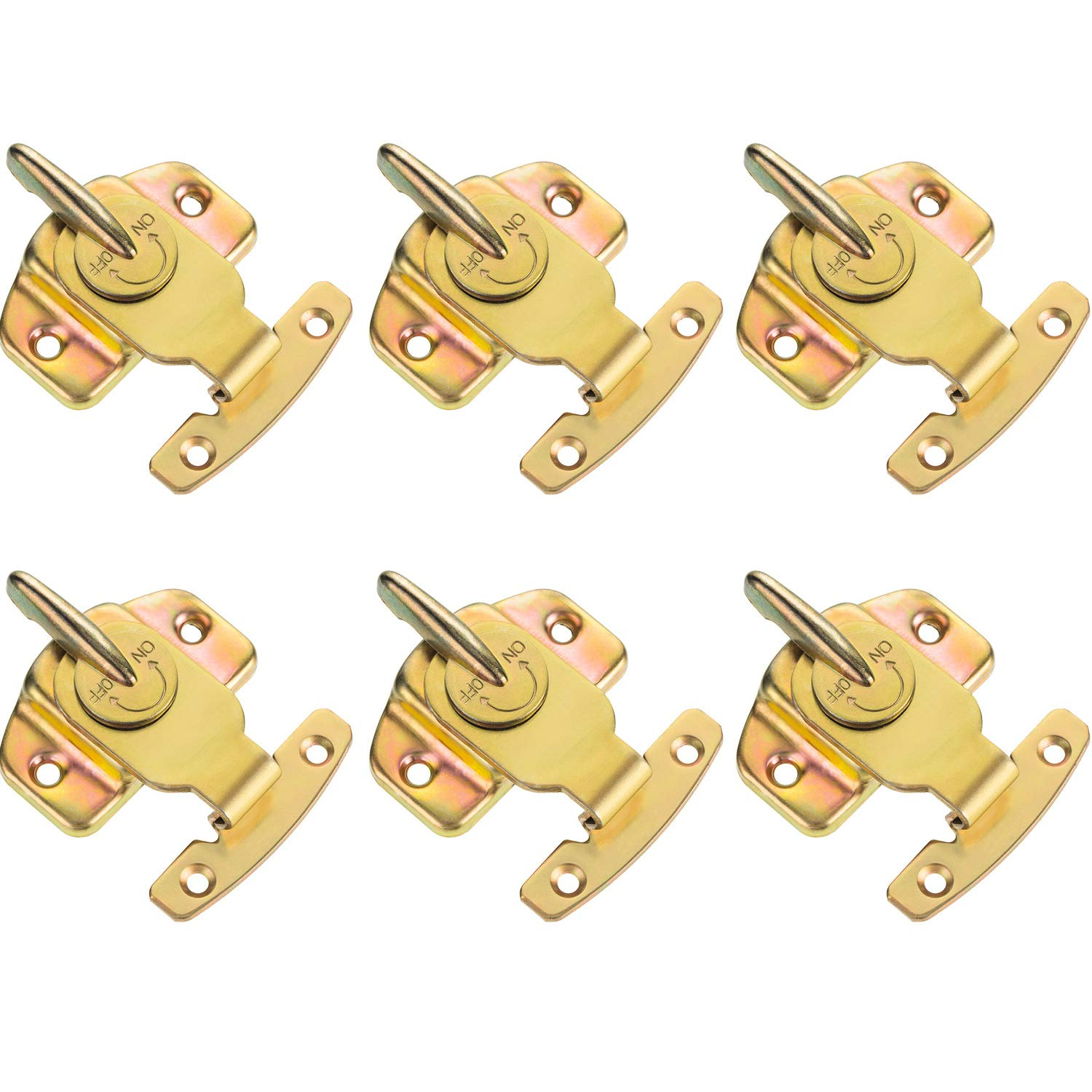 Maxdot 6 Pack Metal Brass Plated Table Locks Dining Training Table Buckles Connectors Hardware Accessories