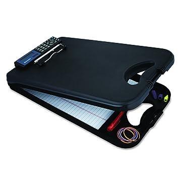 Saunders Black DeskMate II Plastic Storage Clipboard U2013 Form Holder With  Solar Powered Calculator U2013