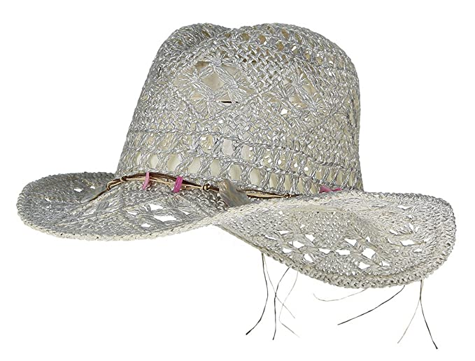 49cb05bc3c746 Image Unavailable. Image not available for. Color  Gemvie Women Hollow Out  Western Style Straw Cowboy Cowgirl Hat ...