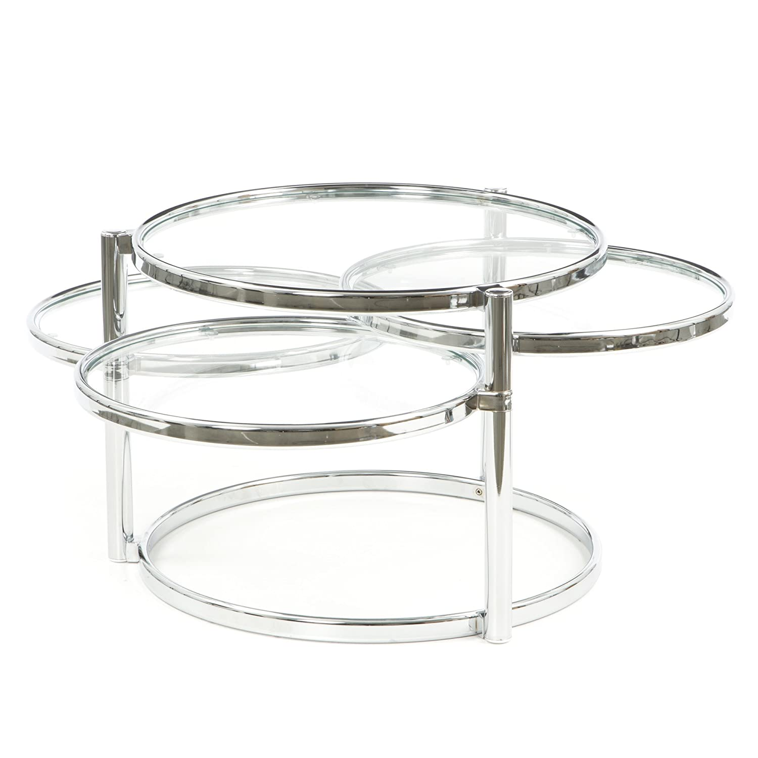 New spec cota 15 motion sofa end coffee table modern style new spec cota 15 motion sofa end coffee table modern style contemporary design tempered glass 4 round table tops with chrome legs amazon home kitchen geotapseo Images
