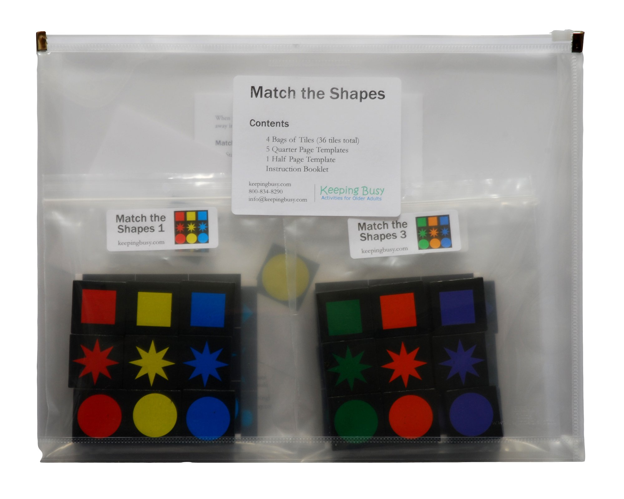 Keeping Busy Match The Shapes Engaging Activity for Dementia and Alzheimer's by Keeping Busy