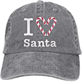 Men And Women I Heart Santa-3 Vintage Jeans Baseball Cap