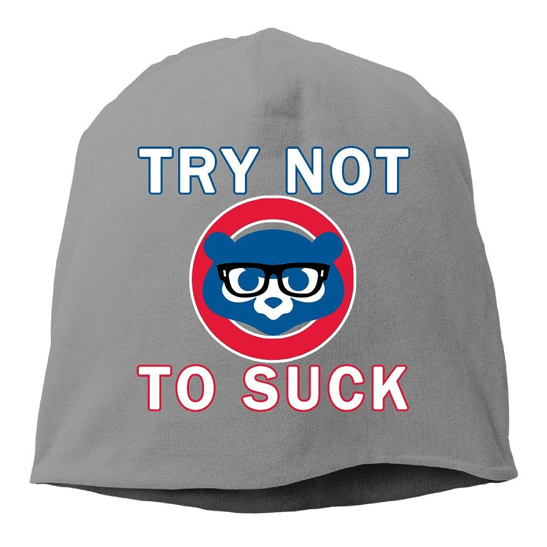 Try Not To Suck Cubs Baseball Maddon Men & Women Hip-Hop Beanie Skull Cap Hat