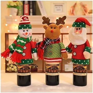 rock rara black friday sales santa claus and snowman wine bottle cover bags christmas dinner