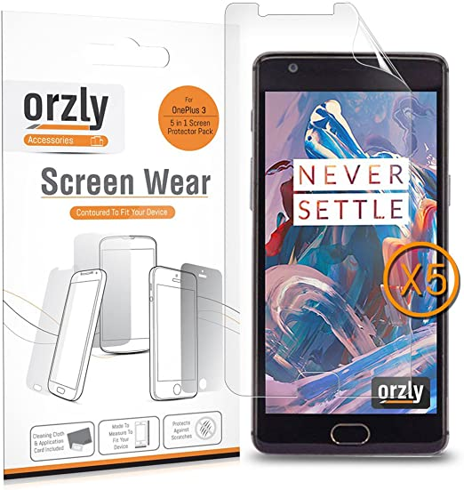 Protectores de Pantalla OnePlus 3 / OnePlus 3T, Orzly® Multi-Pack ...