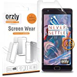 OnePlus 3 / OnePlus 3T Screen Protectors, Multi-Pack of 5 Orzly Transparent Screen Guards Sheets for the ONE PLUS THREE SmartPhone (Original 2016 Model & OnePlus 3T Version)
