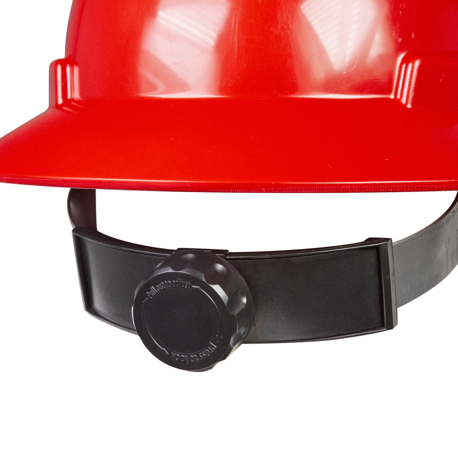 PPE By JORESTECH - HDPE Full Brim Style Hard Hat Helmet w/Adjustable Ratchet Suspension For Work, Home, and General Headwear Protection ANSI Z89.1-14 Compliant (Red) by JORESTECH (Image #4)
