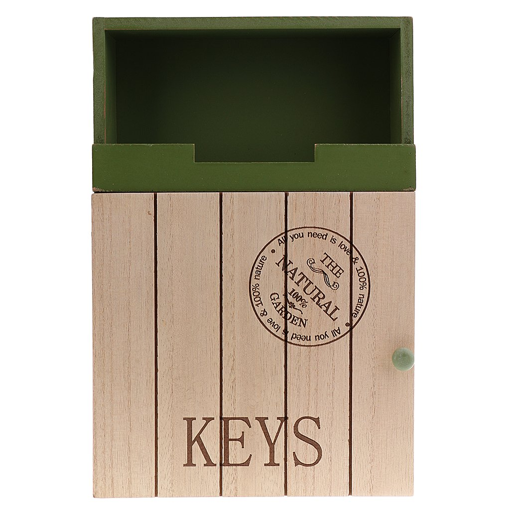 sharplace legno cassetta portachiavi portachiavi a chiave Board armadietto portachiavi 6Ganci