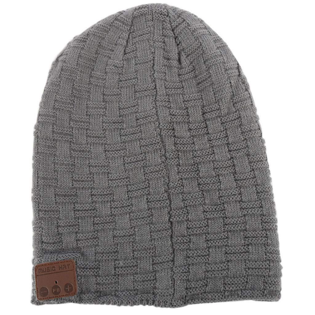 DDKK wnter Hats Wireless Bluetooth Beanie Hat with Detachable Stereo Speakers & Microphone, Fleece-Lined Faux Fur Pom Pom Music Beanie by DDKK winter hats