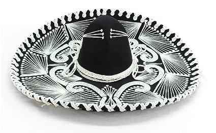 f3a3ebd6a09cb Sombrero charro Blanco y Negro  Amazon.com.mx  Deportes y Aire Libre