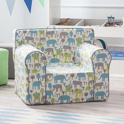 Amazon.com: Aquí y allá Kids – Silla de elefante azul ...