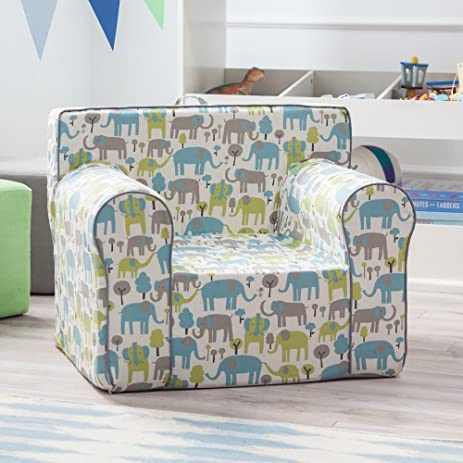 Here And There Kids Chair   Blue Elephant