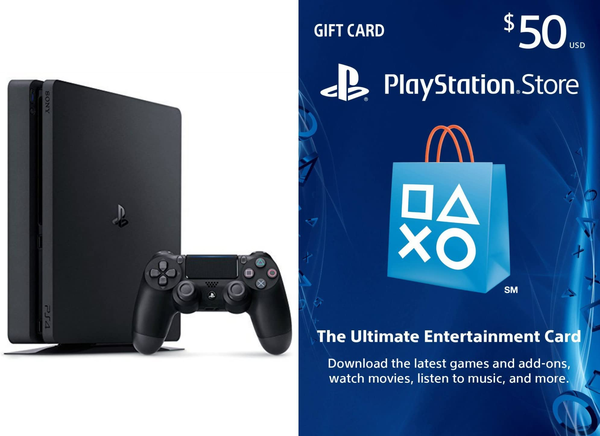 Amazoncom Playstation 4 Slim 500gb Console 50 Store Psn Usd Image Unavailable
