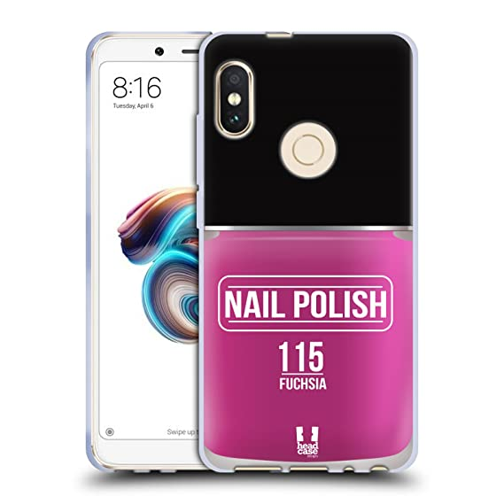 Amazon Head Case Designs Fuchsia Nail Polish Soft Gel Case For
