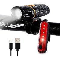 Wastou fietsverlichting, Super Bright Bike Front Light, IPX6 waterdicht 6 modi fietsen licht zaklamp fakkel met USB…