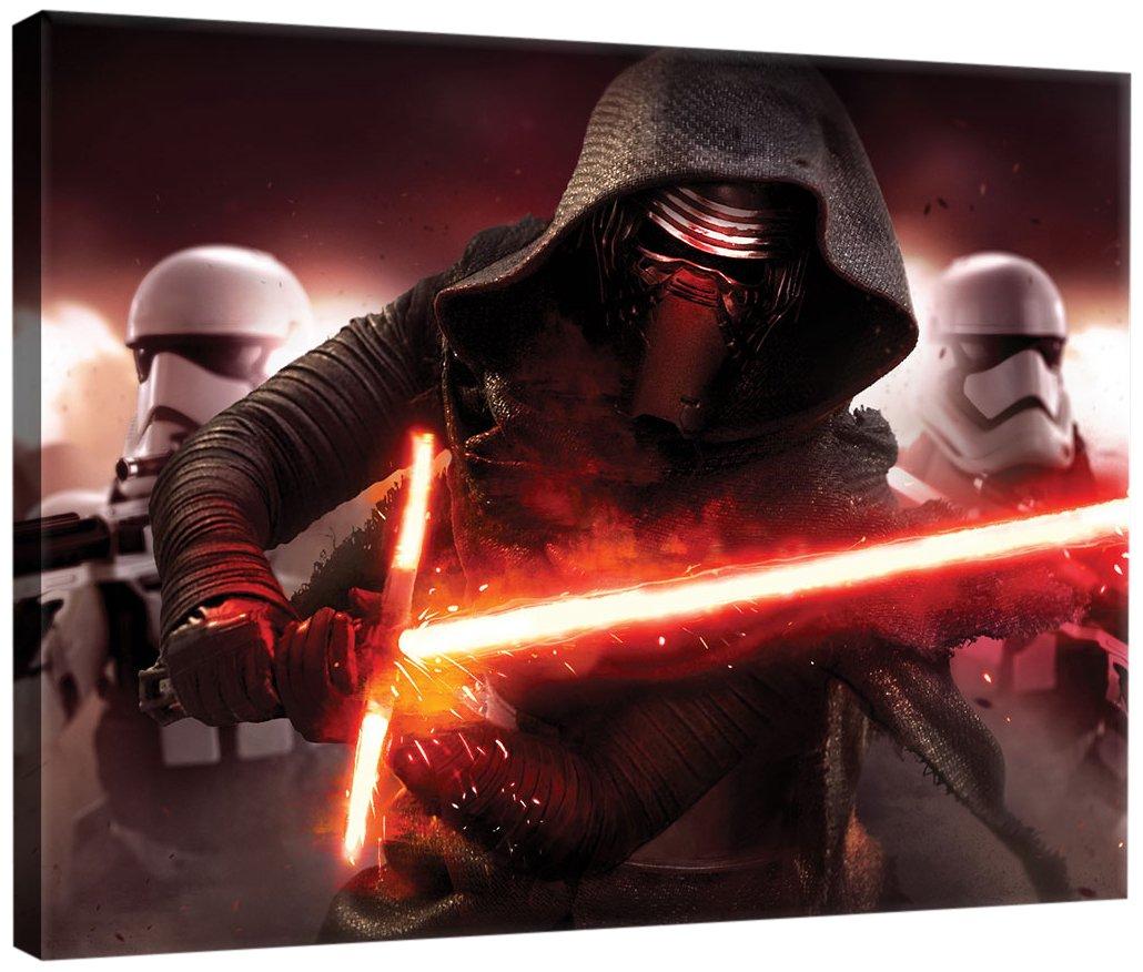 DELESTER DESIGN PPD1912O1 Star Wars VII Le Ré veil de la Force Tableau d'Art Multicolore 100, 0 x 3, 0 x 75, 0 cm
