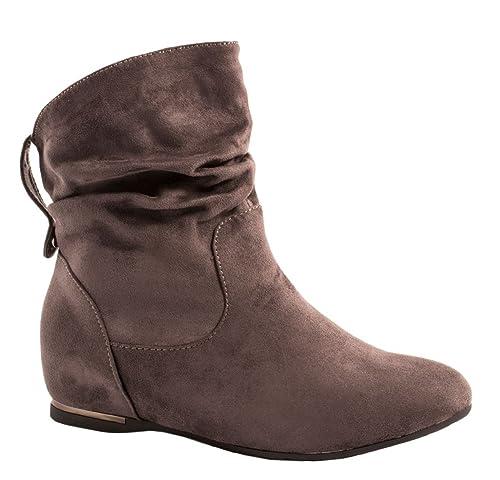 Elara - Botas de mujer | Cómodos botines clásicos | Botas planas: Amazon.es: Zapatos y complementos