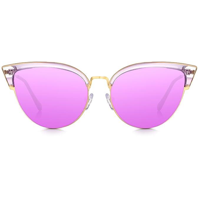 Sunglass Junkie Sexy Ladies Cat-Eye Gafas de sol. Marco de metal ...
