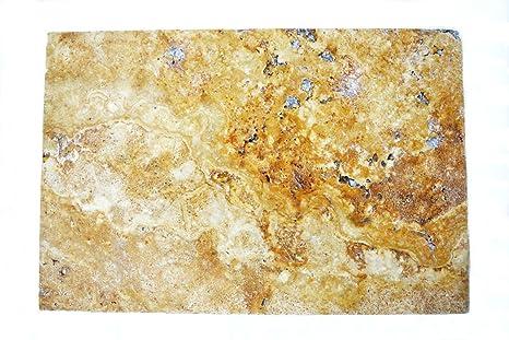 Piastrelle mattonelle di pietra naturale giallo oro travertino