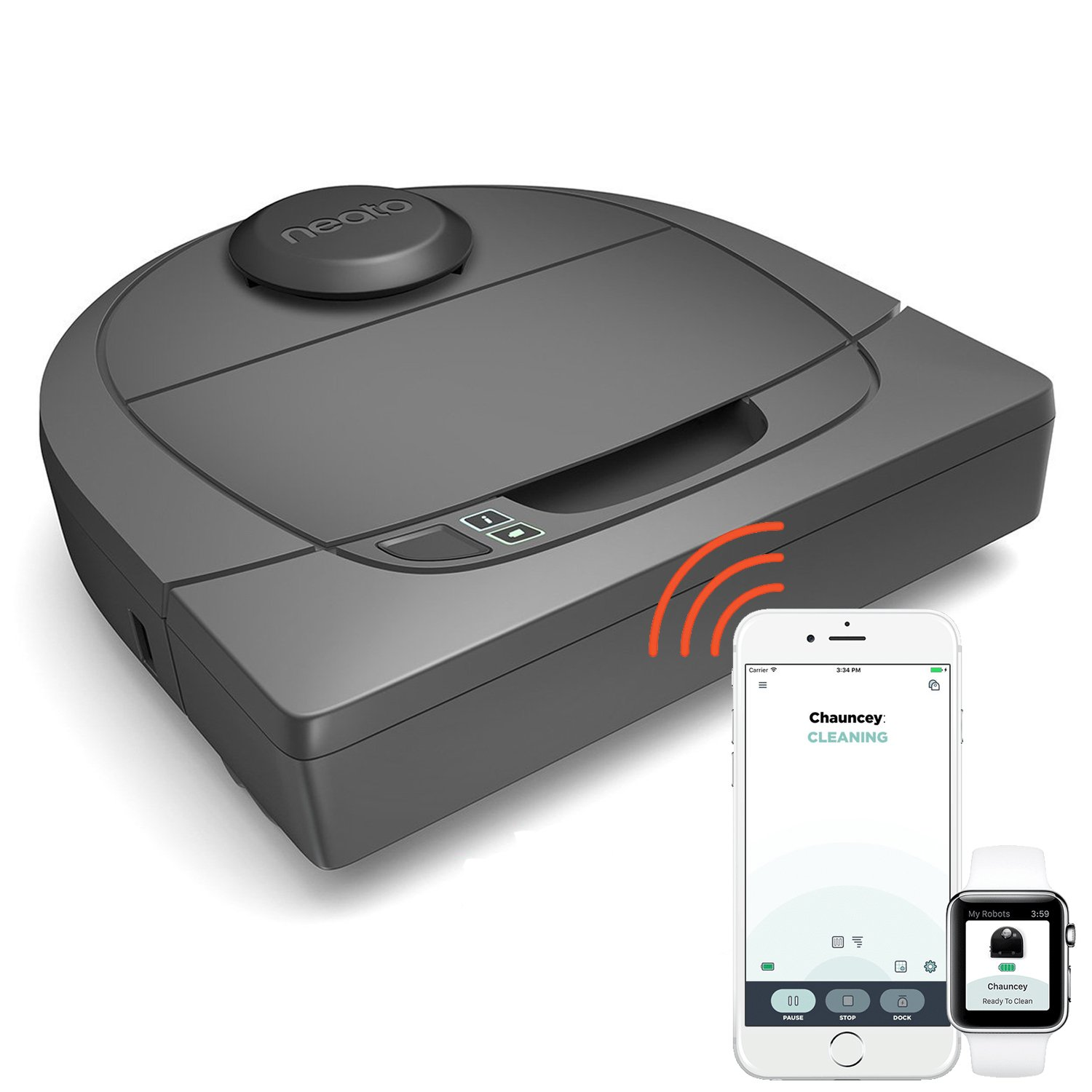 Neato Botvac D3 Wi-Fi Connected Laser Navigating Robot Vacuum, Compatible with Alexa