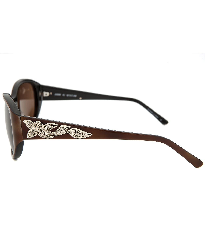 243d6ed7e2 Amazon.com  Judith Leiber Designer Sunglasses JL5002-02 in Topaz in Brown  Lens  Clothing