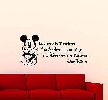 Amazoncom Mickey Mouse Wall Decal Walt Disney Quote Nursery - Custom vinyl wall decals disney